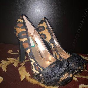 Cheetah styled heels
